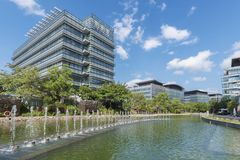 Modern office building. In Hong Kong city royalty free stock photos