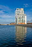 Modern office building near the canal in Liverpool Stock Image