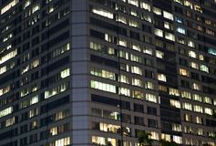 Modern office building at night Royalty Free Stock Image