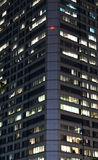 Modern office building at night Royalty Free Stock Photo