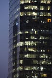 Modern office building at night Stock Photo