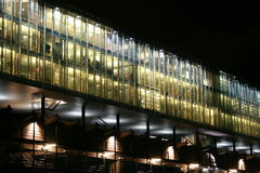 Modern office building by night. Kraanspoor building, Amsterdam Royalty Free Stock Images