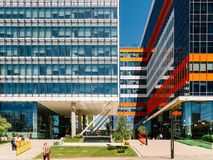 Modern Office Building In North District Of Bucharest City Stock Photos
