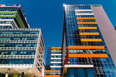 Modern Office Building In North District Of Bucharest City Royalty Free Stock Photo