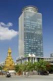 Modern office building phnom penh cambodia Stock Image