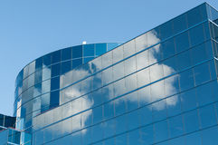 Modern Office Building Reflecting the Clouds Royalty Free Stock Photography