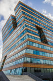 Modern office building with reflecting windows in Groningen Royalty Free Stock Photography