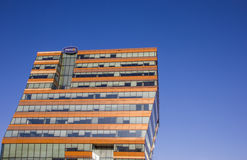 Modern office building with reflecting windows in Groningen Royalty Free Stock Images