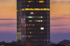 Modern office building during sunset Royalty Free Stock Photography