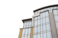 Modern office building with tinted windows. Against sky royalty free stock photo