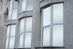 Modern office building with tinted windows. Urban. Architecture stock photos