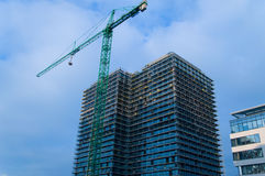 Modern office building under construction. In Gdansk, Poland royalty free stock photo