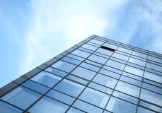 Modern office building wall made of glass and steel Stock Photo