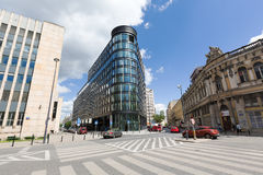 Modern Office Building in Warsaw Stock Photos