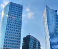 Modern office building windows Stock Image