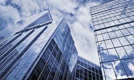 Modern Office Buildings. In Canar Wharf, London Royalty Free Stock Photo