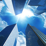 Modern office buildings. On blue sky Royalty Free Stock Photography