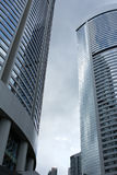 Modern Office Buildings. Commercial buildings on cloudy day Royalty Free Stock Image