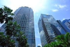 Modern office buildings. Under blue sky Stock Image