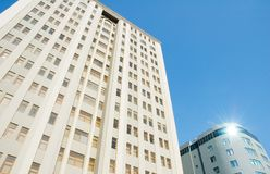 Modern office buildings. On bright summer day Royalty Free Stock Photo