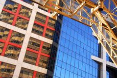Modern office buildings. Fragment of modern office buildings, urban architectural abstract Royalty Free Stock Photography