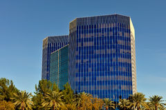 Modern office buildings. Low angle view of modern high rise office buildings, downtown Phoenix, Arizona, U.S.A Royalty Free Stock Photography