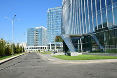 Modern office buildings in Astana Royalty Free Stock Photos