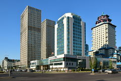 Modern office buildings in Astana Stock Image