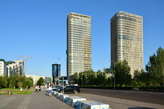 Modern office buildings in Astana Royalty Free Stock Image