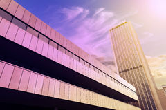 Modern office buildings background. Stock Image