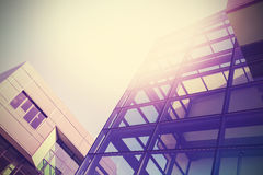 Modern office buildings background, vintage colors style.  Royalty Free Stock Photography