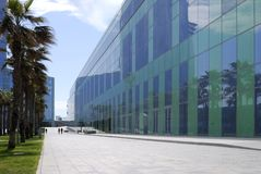 Modern office buildings. Barcelona. Stock Image