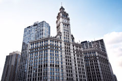 Modern Office Buildings. Bottom Up View. Chicago stock photos