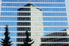 Modern office buildings in calgary royalty free stock photos