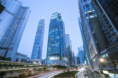 Modern office buildings in Central Hong Kong.  Royalty Free Stock Photos