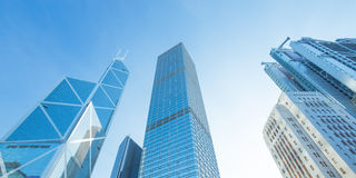 Modern office buildings in Central Hong Kong. Stock Photos