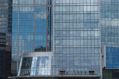 Modern office buildings on a city closeup Stock Images