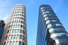 Modern office buildings close up Stock Photos