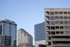 Modern  office buildings in downtown Austin Stock Photo