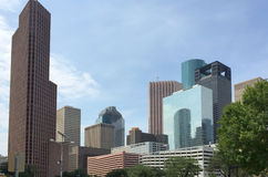 Modern office buildings in downtown Houston Royalty Free Stock Photo