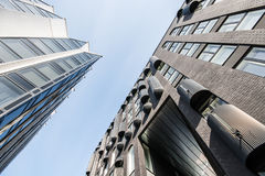Modern office buildings exterrior. Modern buildings in city centre Royalty Free Stock Photos