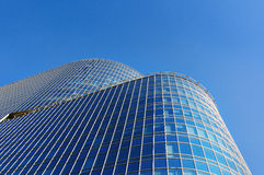 Modern office buildings of glass and metal Stock Photos