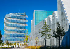 Modern office buildings glisten in the sun Royalty Free Stock Photography