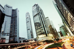 Modern office buildings in Hong Kong Stock Photography