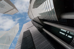Modern office buildings in Hong Kong. Modern office buildings in Central Hong Kong Stock Photos