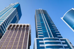 Modern office buildings and hotels in the city of Manama Stock Image