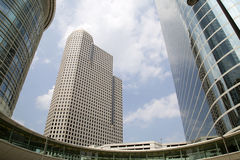 Modern office buildings in Houston. Modern office buildings in downtown Houston, TX USA Royalty Free Stock Photography