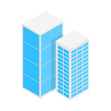 Modern office buildings icon, isometric 3d style Royalty Free Stock Photo