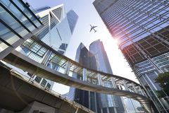 Free Modern Office Buildings In Central Hong Kong. Royalty Free Stock Photo - 124144585