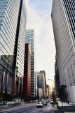 Modern Office buildings in Japan Tokyo center finance business area royalty free stock photos